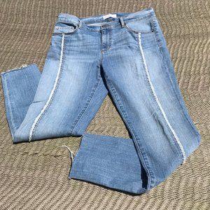 Jeans, skinny, ankle, light-med wash denim, 29/8